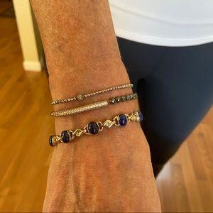COPY - Lapis Blue + Silver Vintage Bracelet